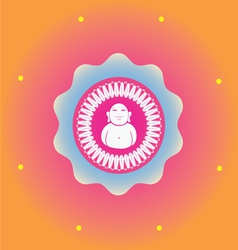 Budda ornamental print vector
