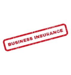 Business Insurance Text Rubber Stamp vector