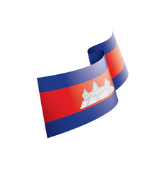 cambodia flag on a white vector image