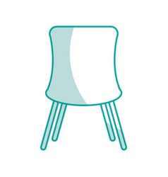 Chair desk isolated iicon vector