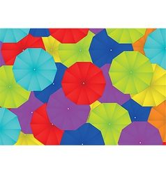 Colorful umbrella abstract background vector image vector image