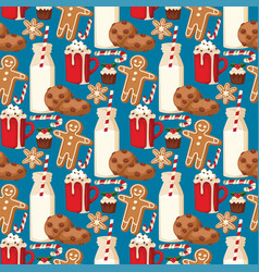 Cookie traditional christmas food seamless pattern vector