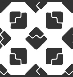 Cryptocurrency coin waves icon seamless pattern vector