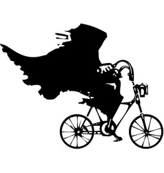 death on a bicycle vector image