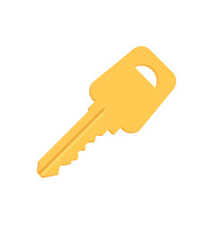 door or padlock key isolated on white background vector image