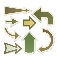 Eco arrows vector image vector image