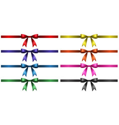 eight ribbons in different colors vector image