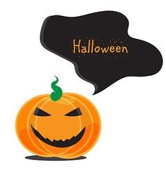 Emotional Halloween pumpkins vector