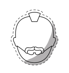 figure criminal man face icon vector image