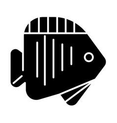 fish tropical icon black vector image