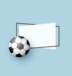 flat cartoon football ball banner vector image