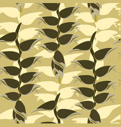 floral leaves pattern leaf seamless background vector image