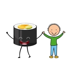 food character menu icons vector image