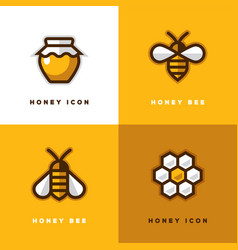 Four honey logo vector
