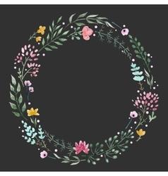 Hand drawn watercolor wreath vector image vector image