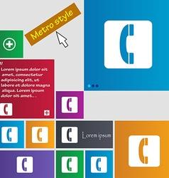 Handset icon sign buttons Modern interface website vector