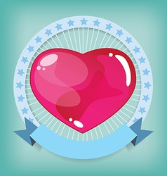 Heart jelly shape vector image