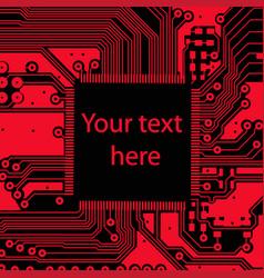 high tech electronic circuit board vector image