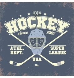 Ice Hockey Badge vector