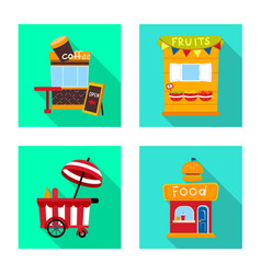 Isolated object amusement and store icon vector