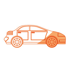Isolated sport car vector