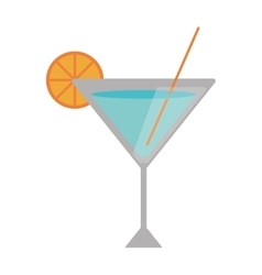 Isolated summer cocktail design vector