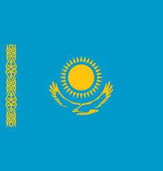 kazakhstan flag icon in flat style national sign vector image
