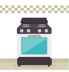 kitchen oven appliance icon vector image