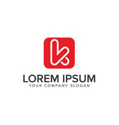 letter k minimalist logo design concept template vector image