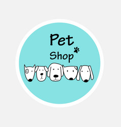 logo design template for pet shops vector image