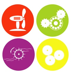 monochrome icon set with wheel for rotation of the vector image