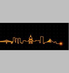 montreal light streak skyline vector image