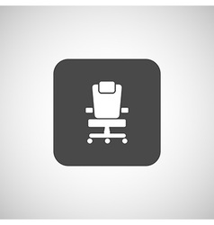 Office chair icon business seat shape vector image