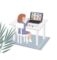 online education concept for preschool vector image