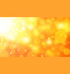 orange bokeh background vector image