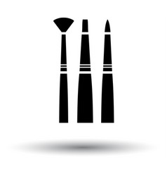 Paint brushes set icon vector