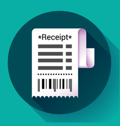 Paper receipt bank document payment and bill vector