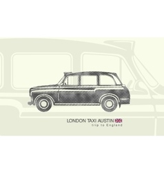printing London taxi Austin vector image
