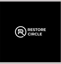restore logo vector image