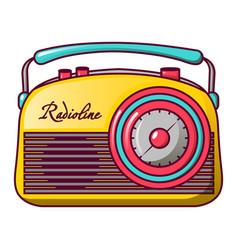 Retro radioline icon cartoon style vector