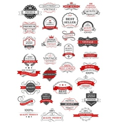 retro set bestseller guarantee and quality vector image