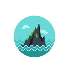 Rocks in the sea icon Summer Vacation vector
