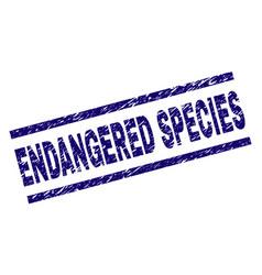 Scratched textured endangered species stamp seal vector