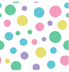 seamless handmade background many circles vector image