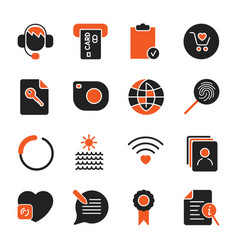 set with different icons for apps programs sites vector image