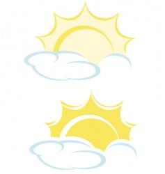 shining sun vector image