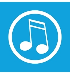 Sixteenth note sign icon vector