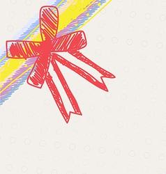 sketch drawing ribbon decoration vector image vector image