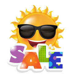 sun smile sale vector image