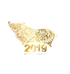the pig - a new year symbol of 2019 merry vector image